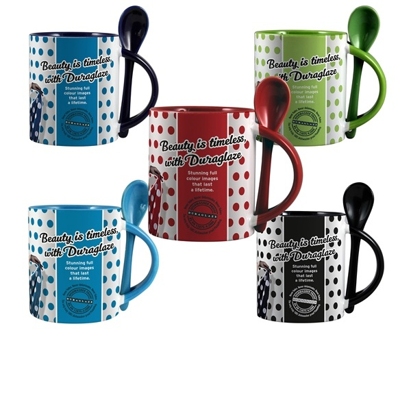 Duraglaze® 11oz Soup and Spoon Two Tone PhotoMug