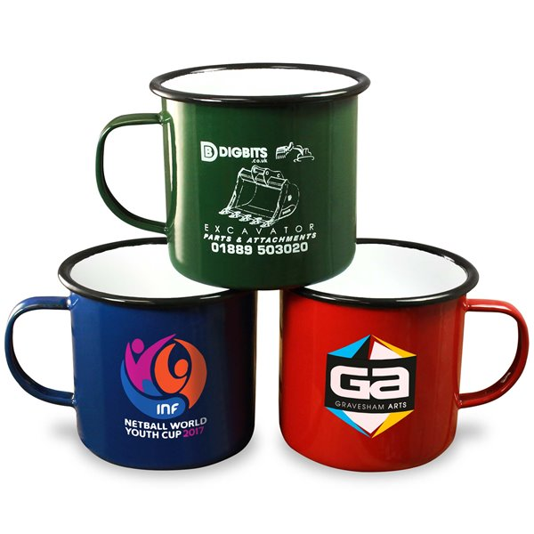 Premium Enamel Mugs 20oz/600ml (Coloured)