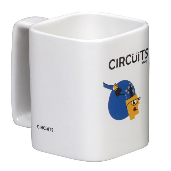 Square Earthenware Mug