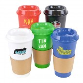 500ml Plastic Takeaway Cafe Mug