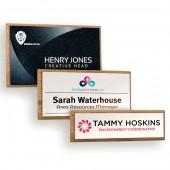 Wood Framed Name Badges