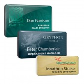 Dome Finished Printed Plastic Name Badges