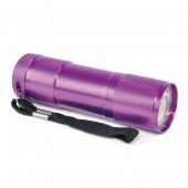 Metal 9 LED Torch