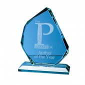 15cm Jade Glass Facetted Ice Peak Award