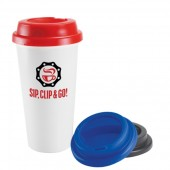 Plastic Double Wall Take Out Coffee Cup (16oz/455ml)
