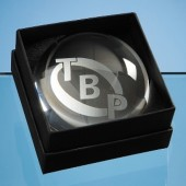 Dome Paperweight Leatherette Box