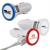 Dual Port LED USB Car Charger
