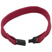 10mm Tubular Polyester Wristband (With Plastic Fastener)